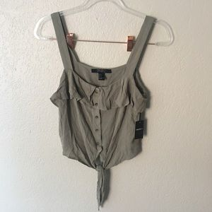 Forever 21 contemporary olive green top